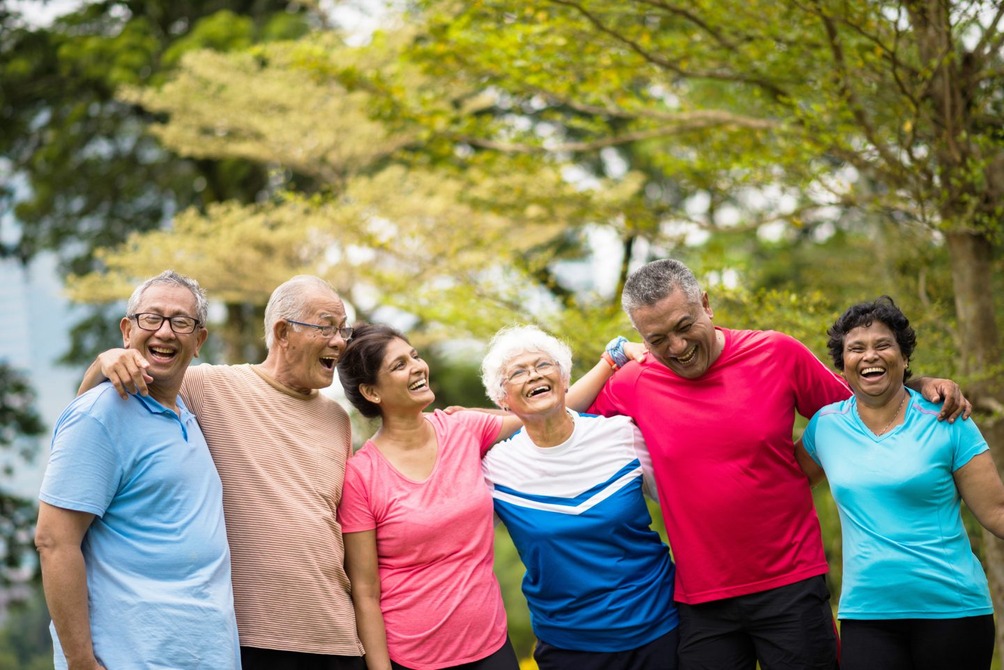 Group of active seniors enjoying their golden years - FWD Term Life Insurance